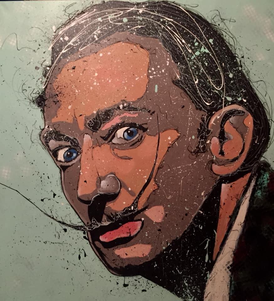 """Exposition de peinture """"Traits po(u)rtrait"""" de Cyril DUBREUIL"""