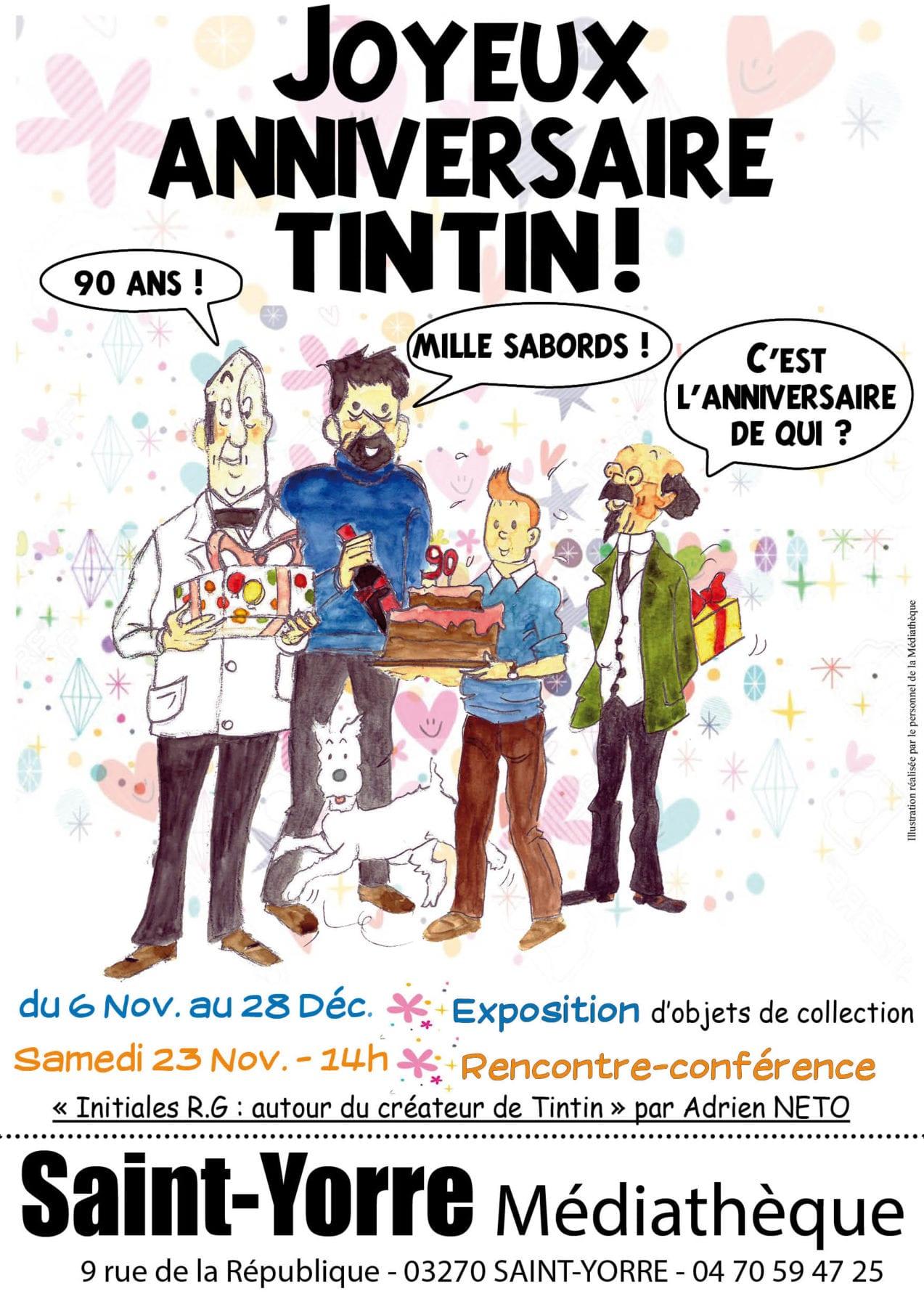 """Exposition """"Joyeux anniversaire Tintin"""""""